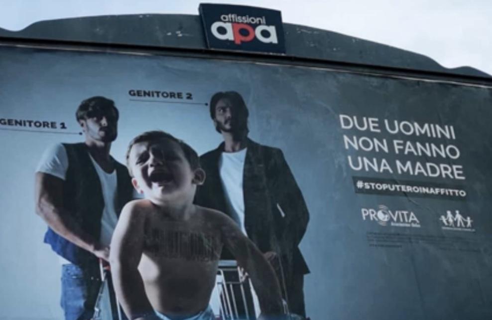 rome billboards mueller report homophobic
