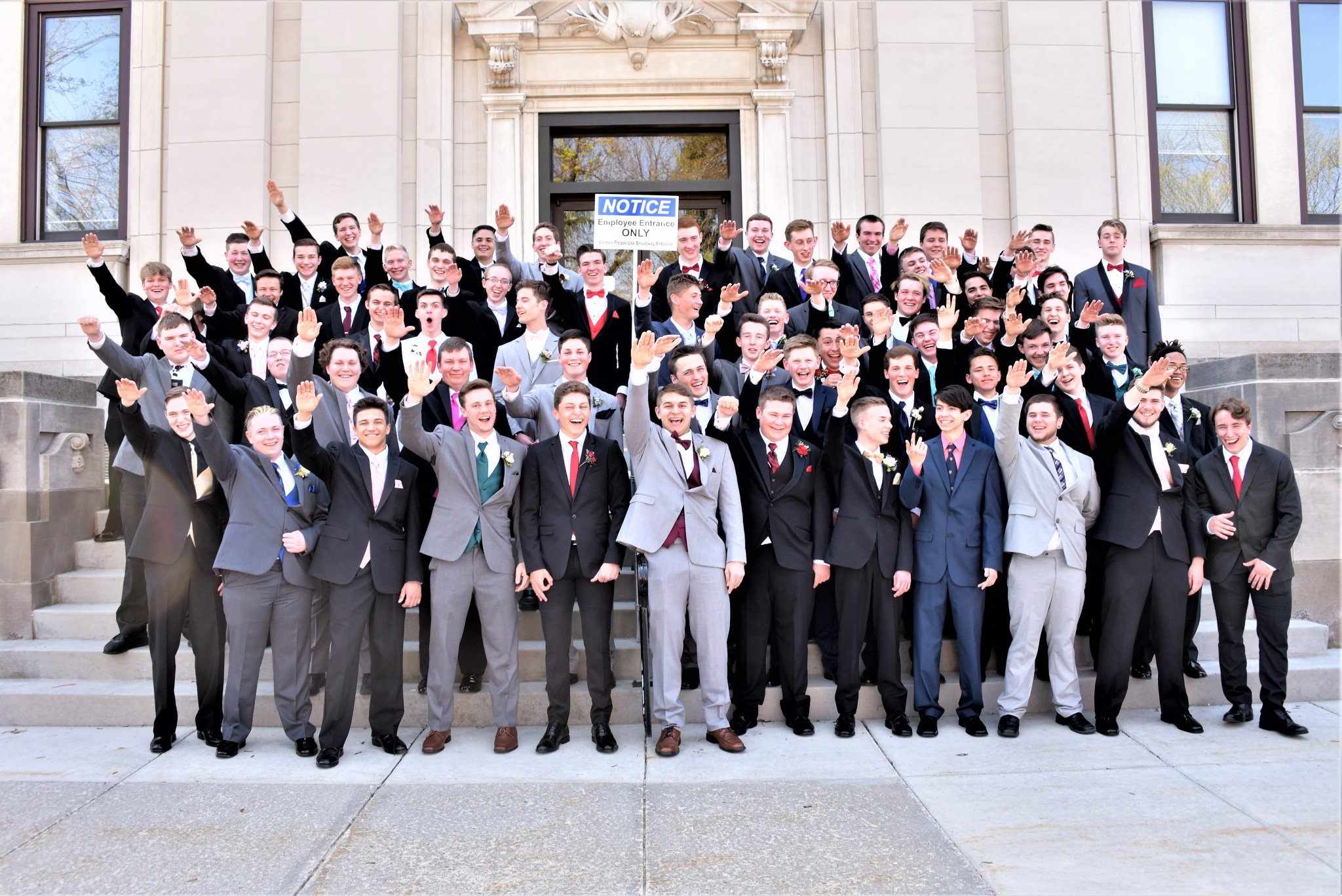 nazi salute prom photo full