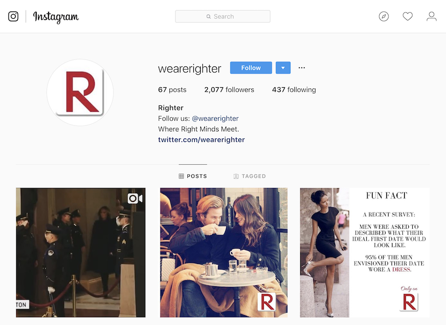 right-wing dating site righter insta