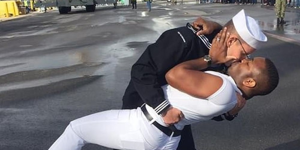 This Gay Sailor Kissing His Husband Has Hilariously Outraged Several Sad Homophobes