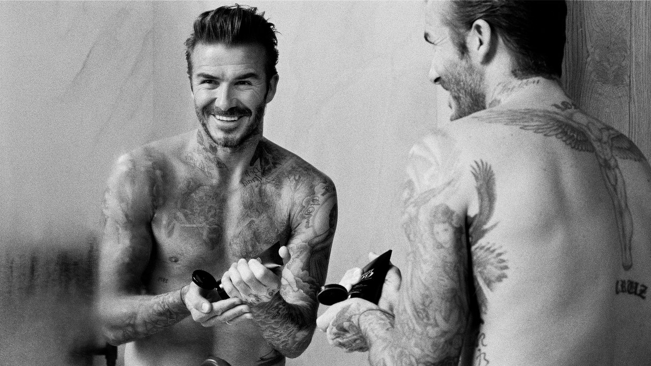 david beckham eye makeup grooming
