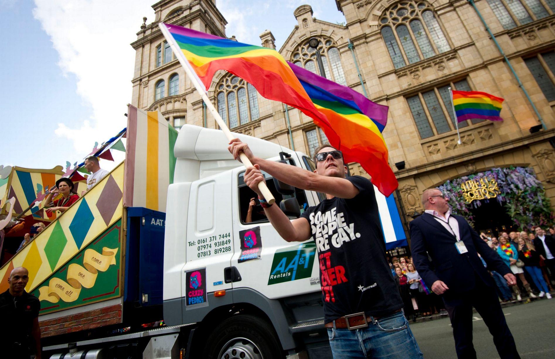 manchester pride rainbow flag 2