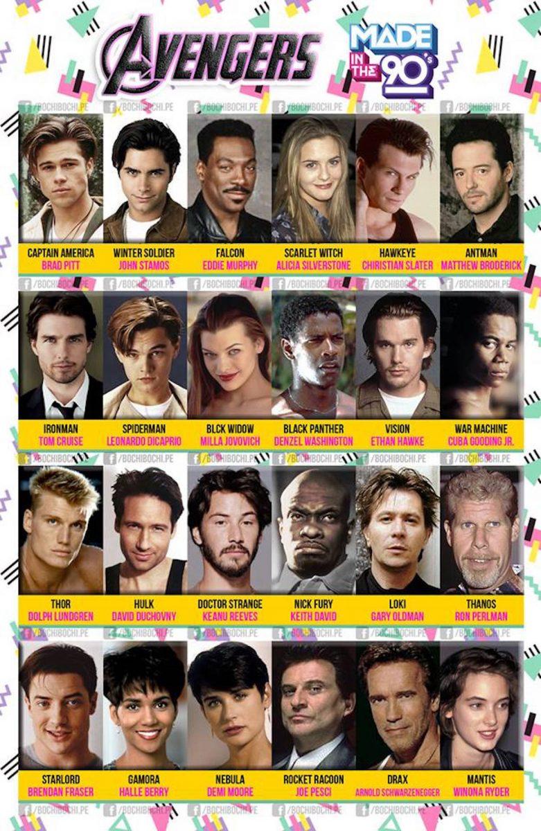 90s avengers cast meme