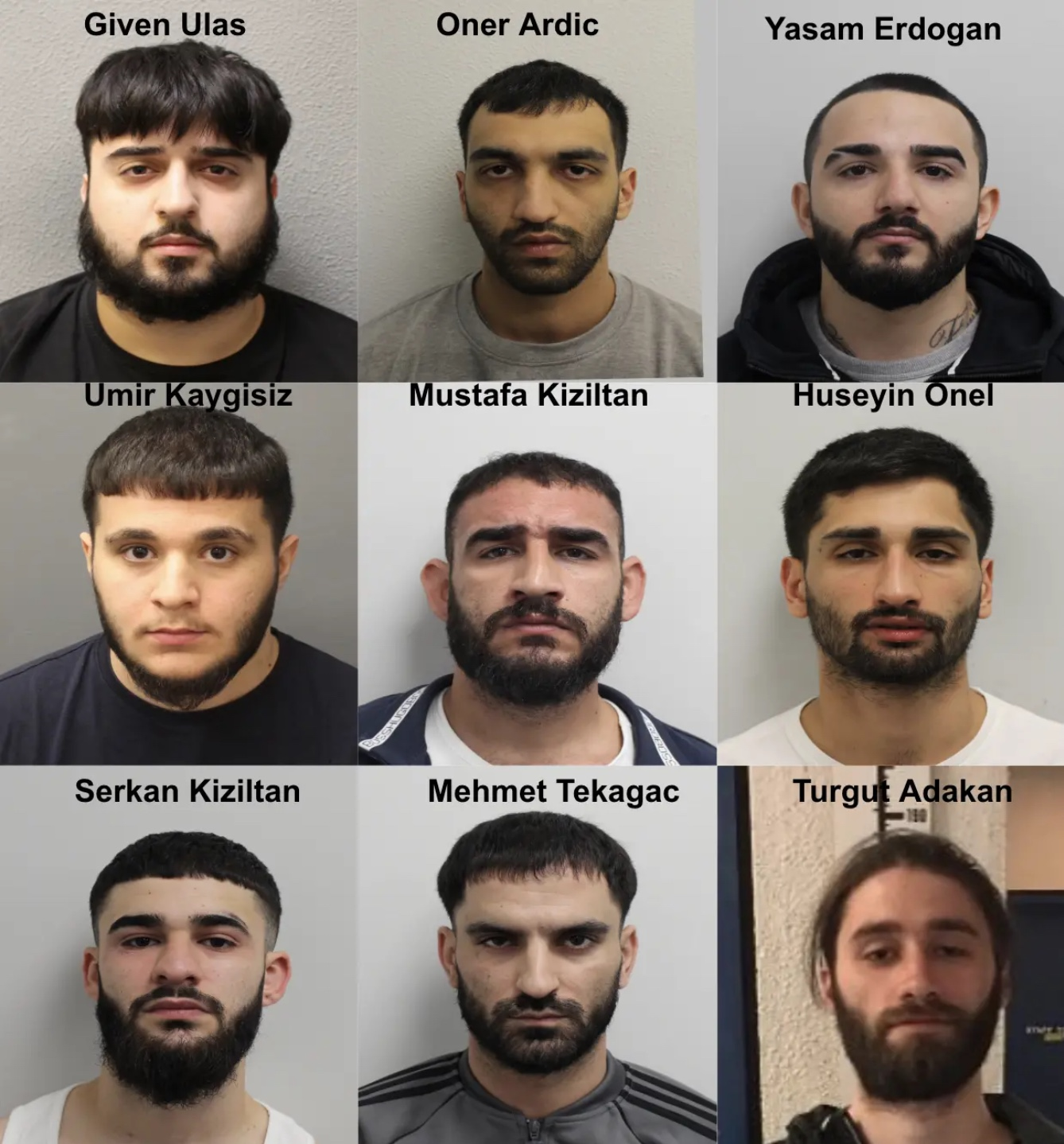 london acid attack mugshots