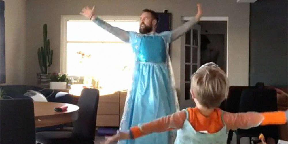 L'adorable vidéo d'un père qui danse avec son fils sur «Let it go»