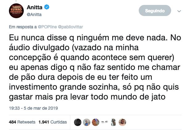 Pabllo Vittar provoca Anitta