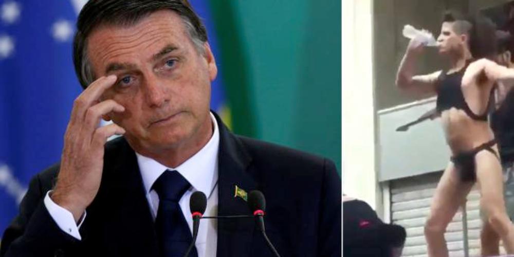 Chuva dourada: Bolsonaro vira vergonha mundial e perde conta no Twitter (NFSW)