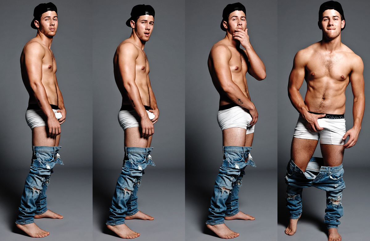 celebrity calvin klein underwear ads nick jonas