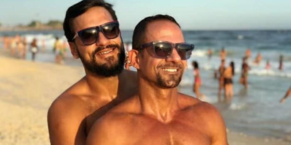 Major do exército responde internautas homofóbicos após foto com marido viralizar