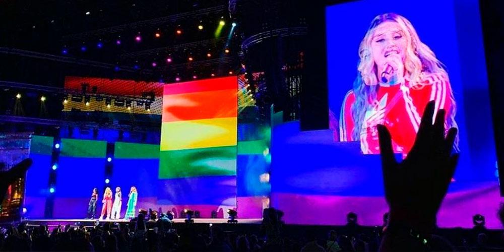 Little Mix Desafía las Leyes Anti-LGBT de Dubai al Poner la Bandera LGBT+ en su Concierto