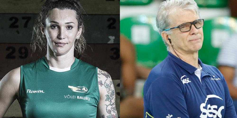 """Técnico Bernardinho chama jogadora Tiffany do vôlei de """"homem"""", assista"""