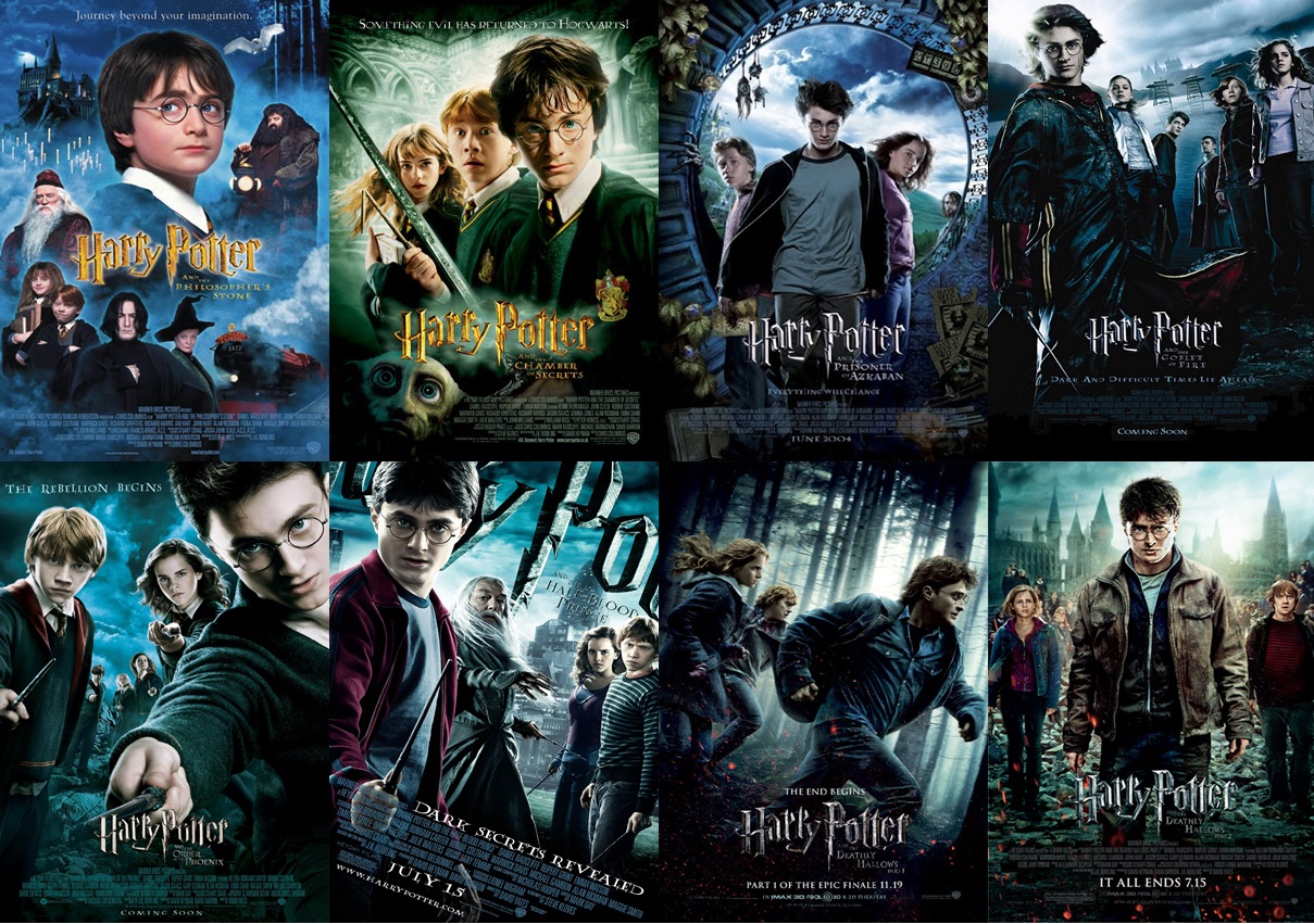 harry potter films posters