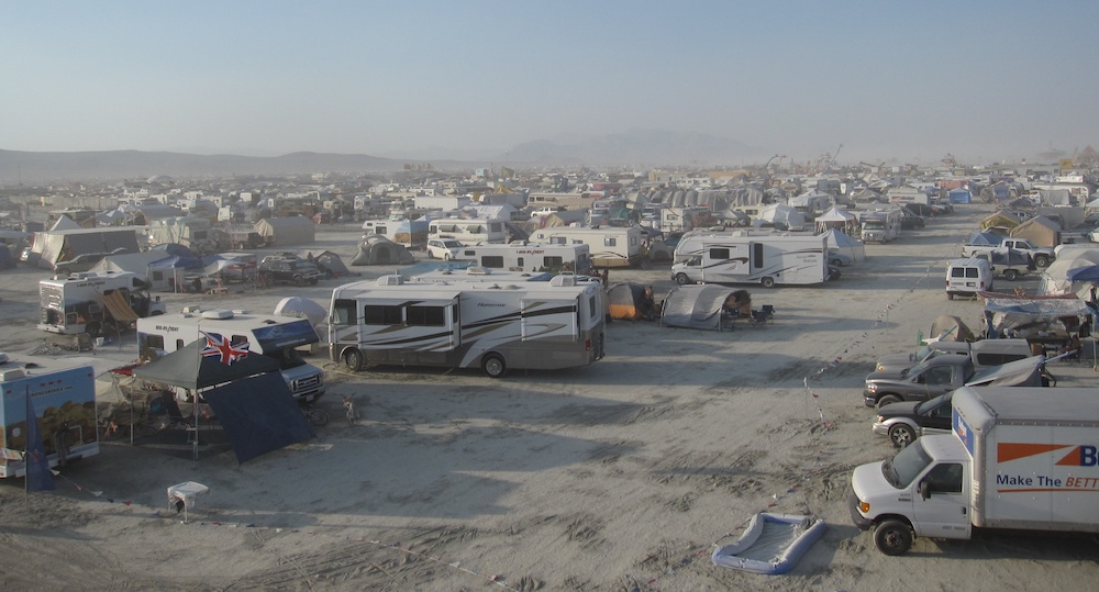burning man RVs