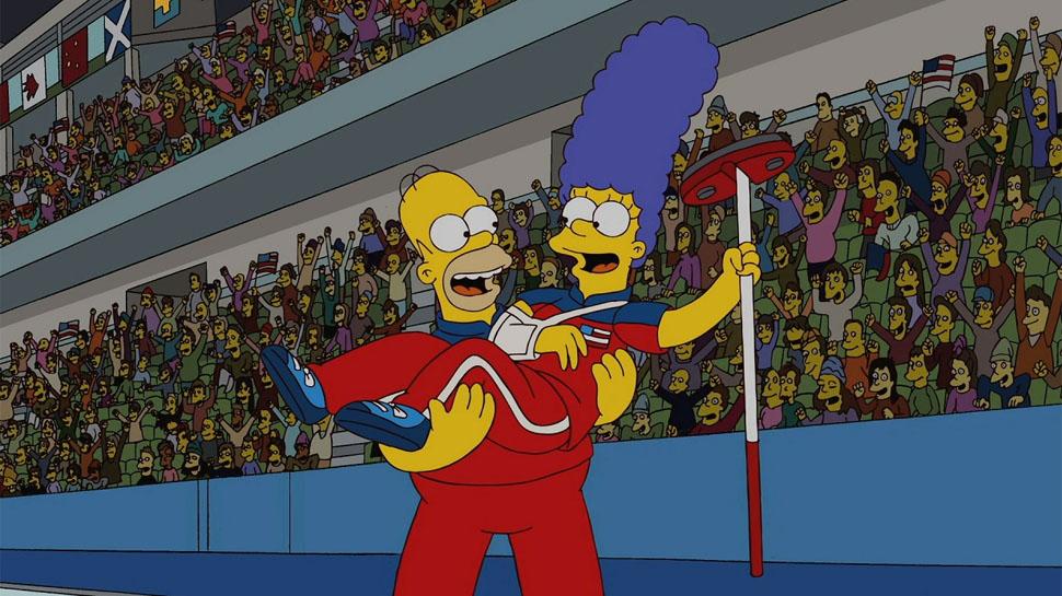 simpsons came true curling