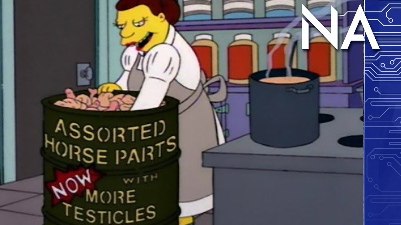 simpsons came true horse meat