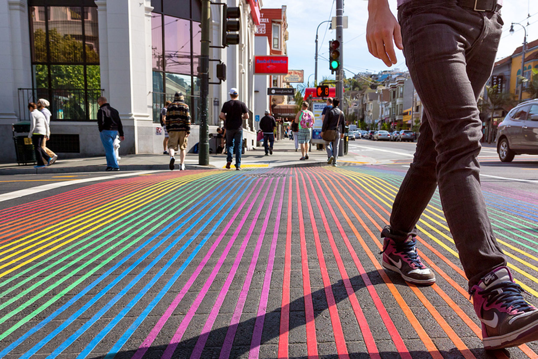 WorldPride 2019 rainbow crosswalk