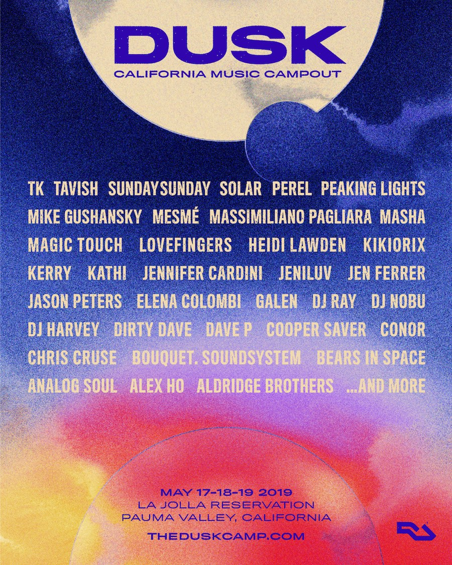 dusk california music campout lineup