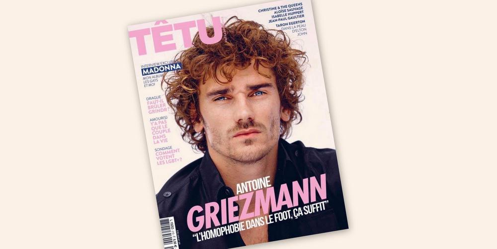 Antoine Griezmann dans «Têtu»: «Si un joueur tient des propos homophobes sur le terrain, je pense que j'arrêterai le match»
