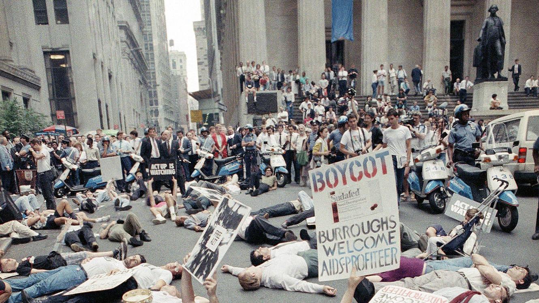 long-term survivors protest