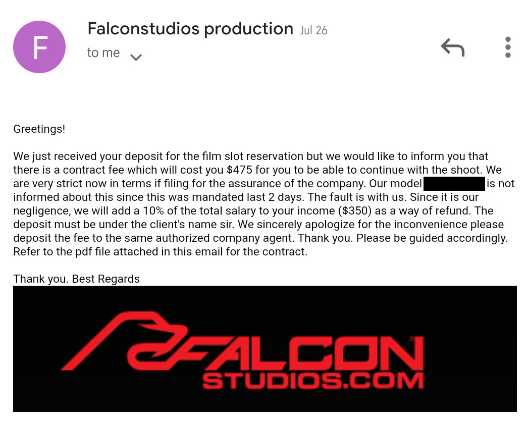 gay porn scam email