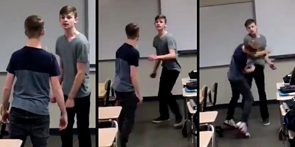 Adolescente cansado de sofrer bullying bate em seu agressor e vídeo viraliza na web