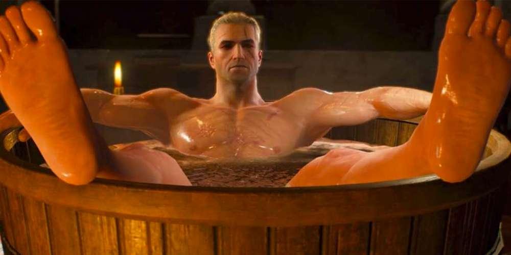 «ПК Геймер» годами троллил гомофобов этим горячим фото Геральта в ванной