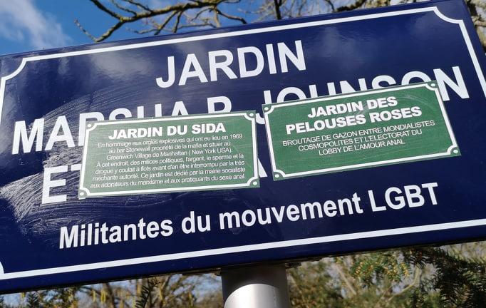 Metz: dégradation des plaques du Jardin Marsha P. Johnson et Sylvia Riviera