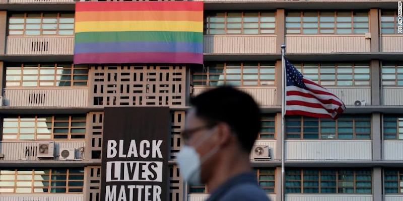 Mike Pompeo Forced Seoul's U.S. Embassy to Remove a Pride Flag and Black Lives Matter Banner